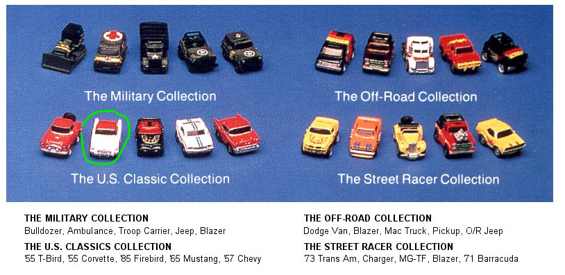 Micro Machines - Vehicle Set, 1987