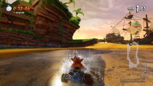 CTR - PS4, première course