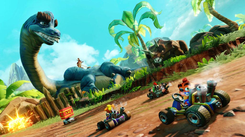 Tiens, je ne me souvenais pas qu'il y avait des dinos dans Crash Team Racing