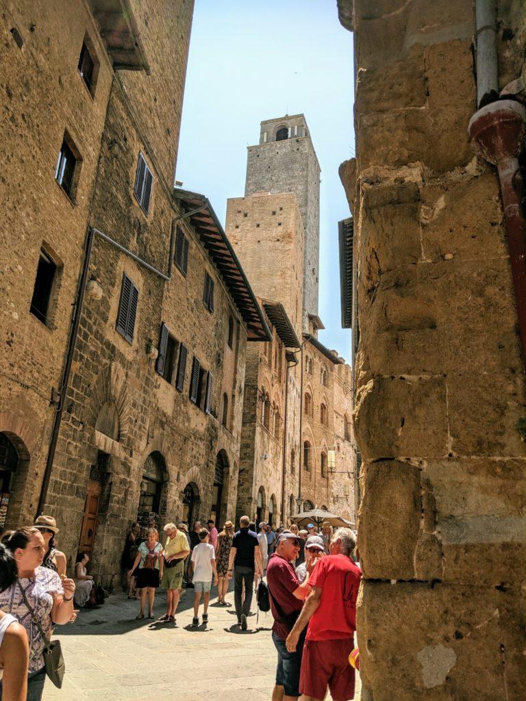 Dans les rues de San Gimignano