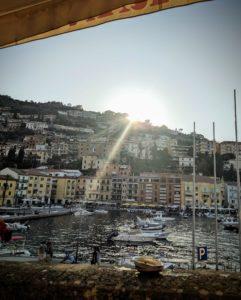 Le soleil se couche sur Porto Santo Stefano