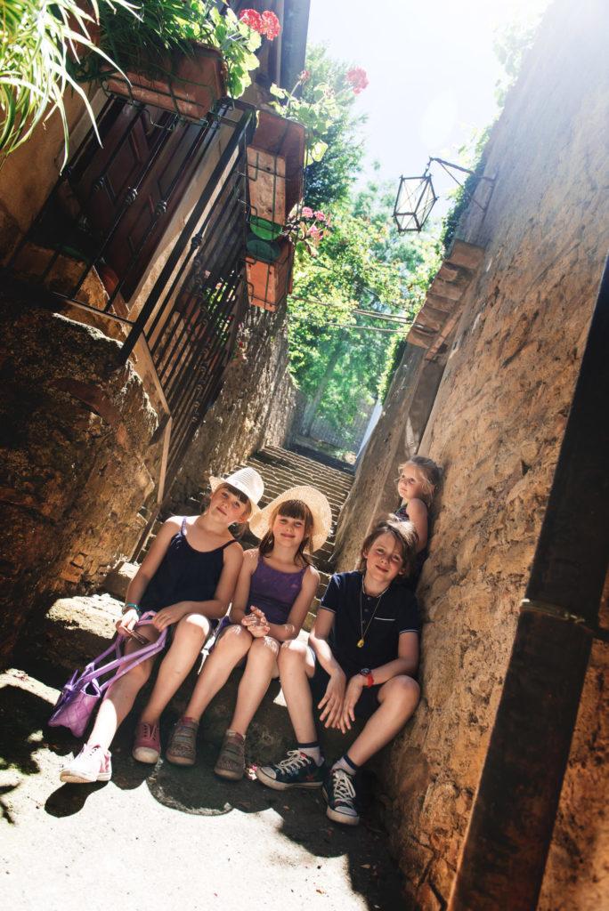En famille à Voltera - Toscane