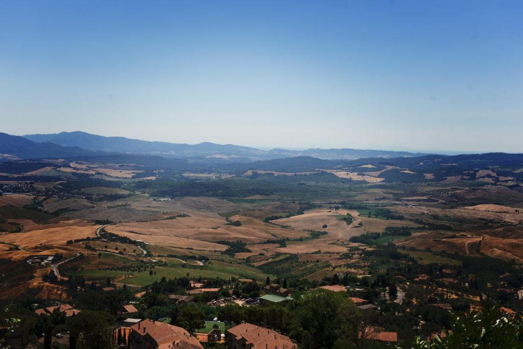 Sur la route de Voltera - Toscane