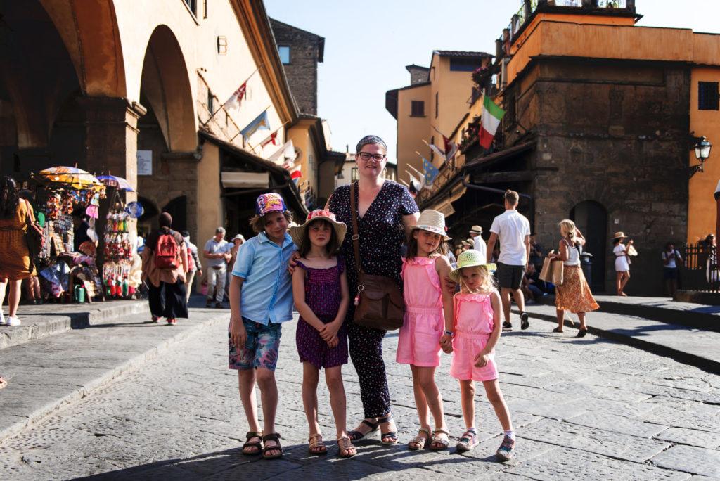 Prêt à traverser le Ponte Vecchio