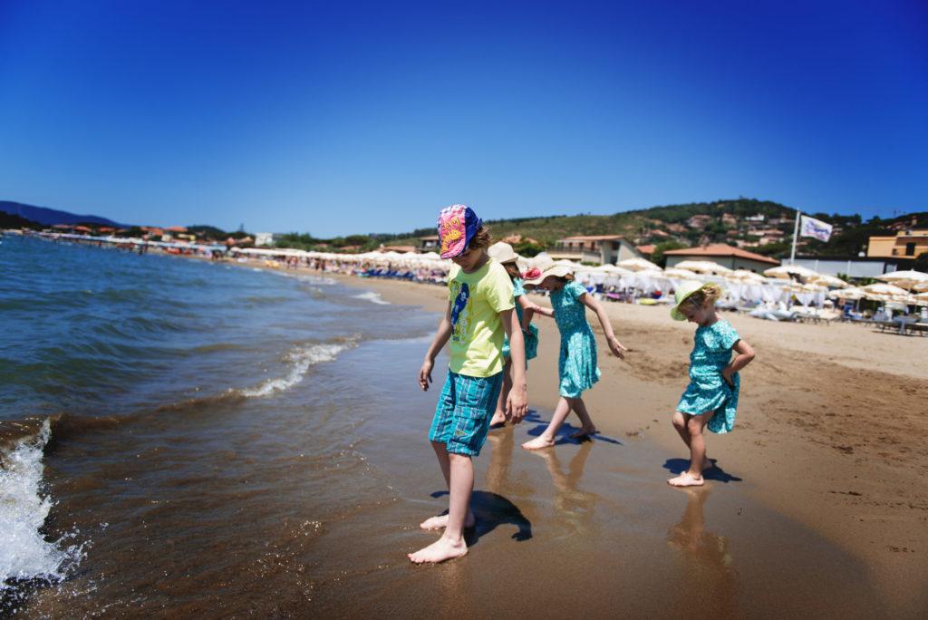 La plage est calme à Castiglione de la Pescaia aujourd'hui !