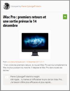 iMac Pro : premiers retours et une sortie prévue le 14 décembre