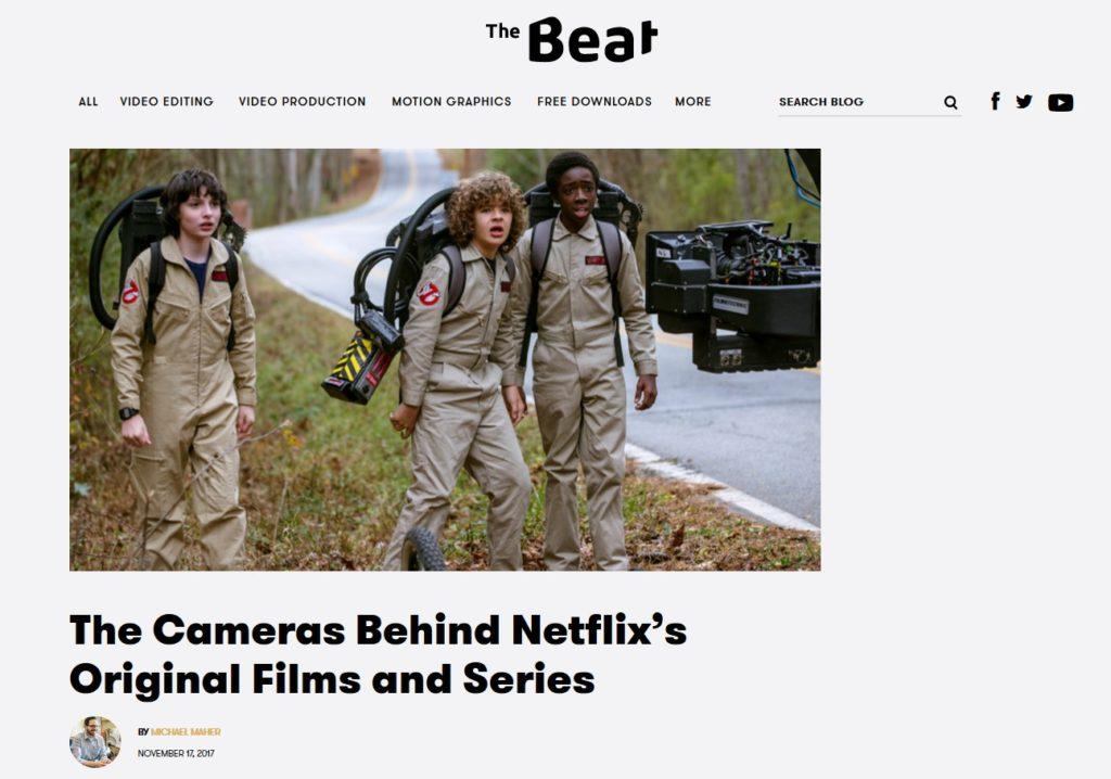 Les Cameras utilisés pour produir les séries Netflix