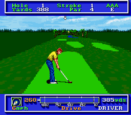 PGA Tour Golf - SFC (Elecrtonic Arts, Sterling Silver Software, 1992)
