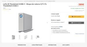 Le Lacie D3 affiche un débit professionnel de 240mo/s