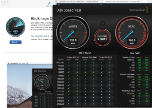 Test du HD externe en USB3 via Black Magic Disk Speed Test
