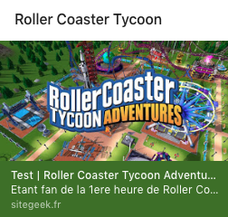 Roller Coaster Tycoon Adventures – Nintendo Switch – Un gout de trop peu