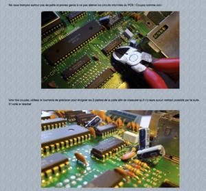 Ne vous trompez surtout pas de patte et prenez garde à ne pas abimer les circuits imprimés du PCB ! Oldies Rising