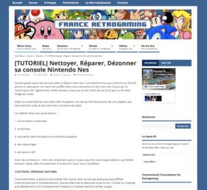 Tous les détails sur les interventions à faire sur sa NES