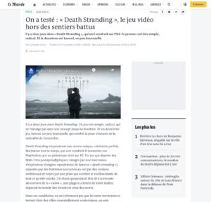 On a testé : « Death Stranding », le jeu vidéo hors des sentiers battus