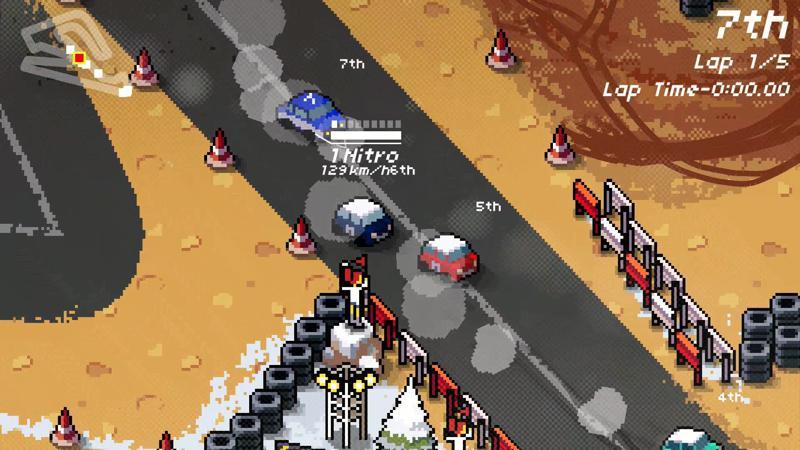 Super Pixels Racers - PS4 (H2 Interactive - PQube - 21c Ducks, 2018)