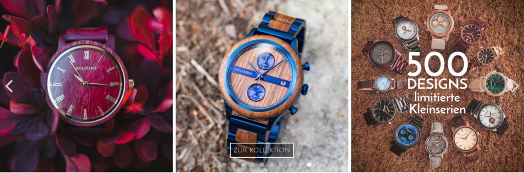 Les montres Holzkern