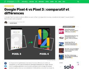 Google Pixel 4 vs Pixel 3 : comparatif et différences