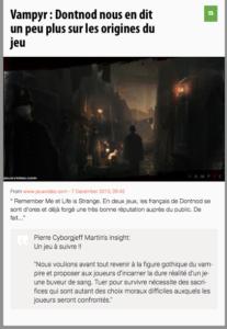Vampyr : Dontnod nous en dit un peu plus sur les origines du jeu