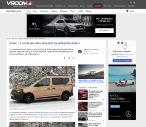 La coqueluche des artisans et des familles, le Volkswagen Caddy, va bientôt se refondre. Mais est-ce que la version définitive s'avère aussi séduisante que les dessins préfigurés par Volkswagen ?