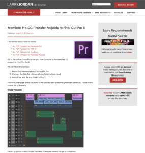 Premiere Pro CC: Transfer Projects to Final Cut Pro X