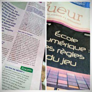 L'école numérique, un autre dossier intéressant lu dans le Ligueur
