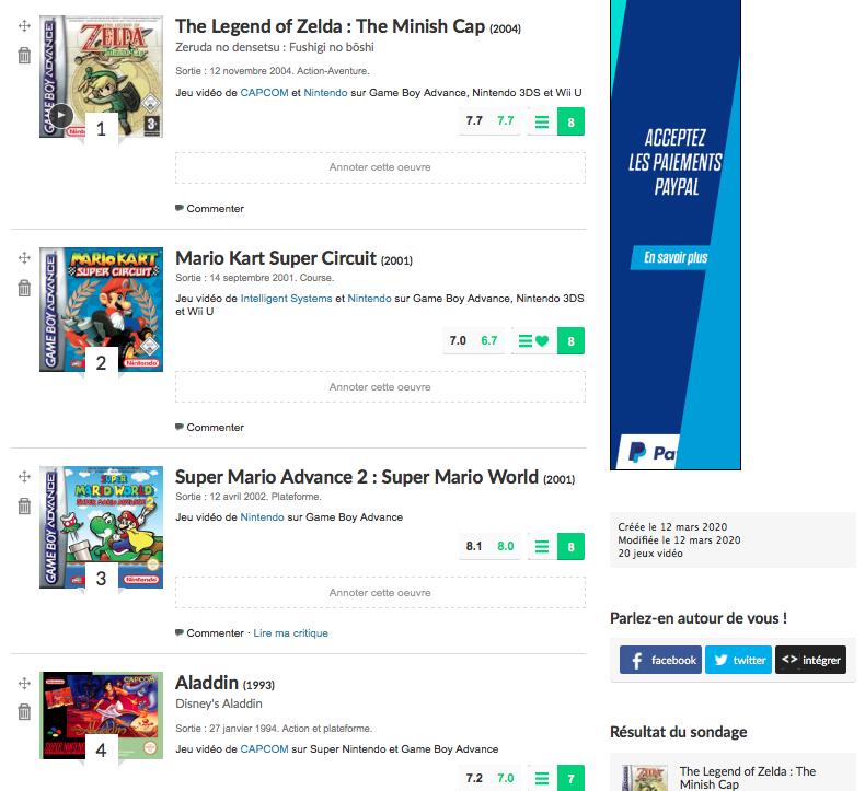 Les meilleurs jeux de la Game Boy Advance selon cyborgjeff