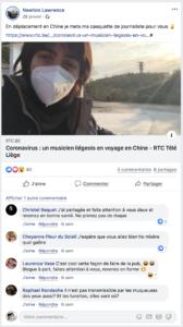 Coronavirus : un musicien liégeois en voyage en Chine