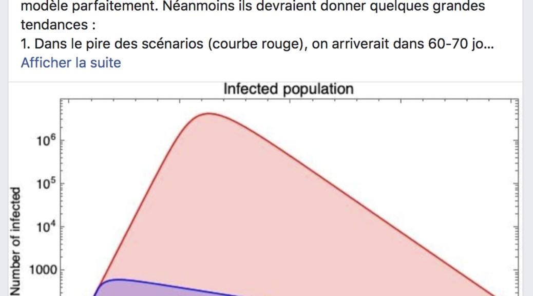 Dans le pire des scénarios (courbe rouge)