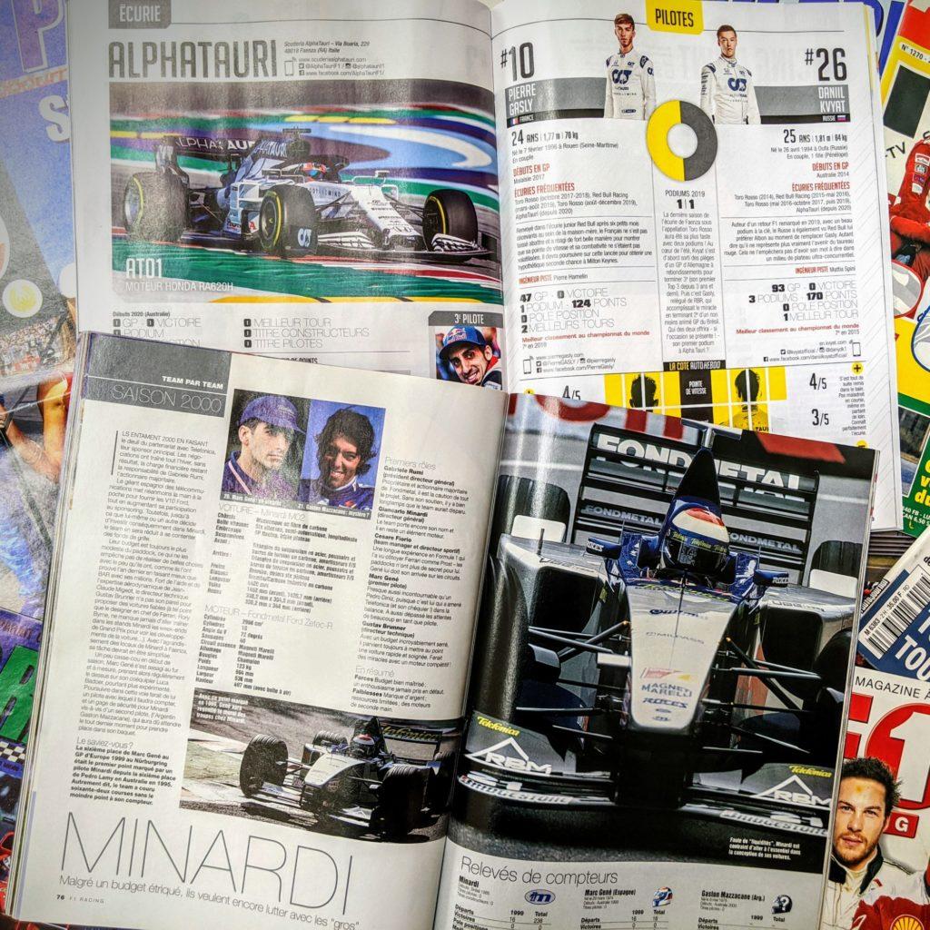 L'AlphaTauri de 2020 VS la Minardi 2000