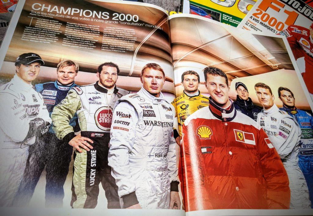 Les champions pour la saison 2000 de Formule 1