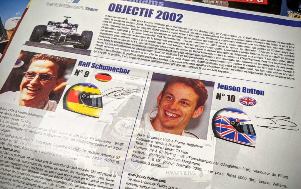 Le rookie de l'année 2000, Jenson Button