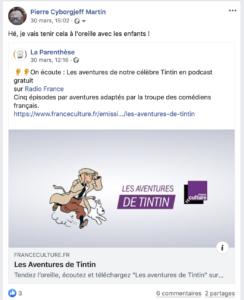 """Tendez l'oreille, écoutez et téléchargez """"Les aventures de Tintin"""" sur franceculture.fr, abonnez-vous à notre podcast spécial avec """"Les Cigares du pharaon"""", """"Le Lotus bleu"""", """"Les 7 boules de cristal"""" et le """"Temple du soleil""""."""