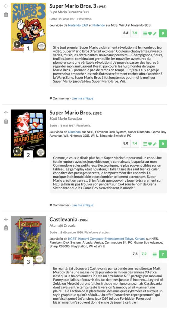 Les meilleurs jeux NES selon cyborgjeff