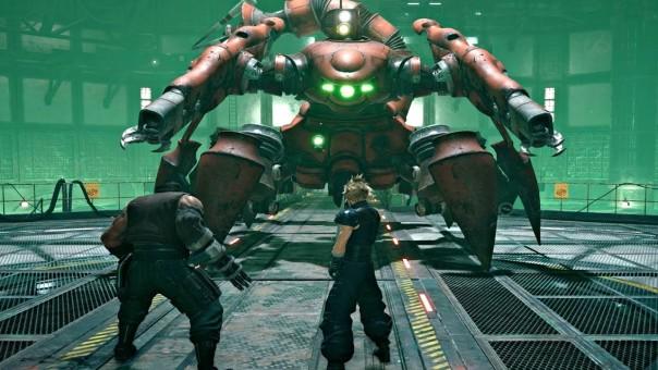 Le premier boss scorpion mécanique dans le réacteur Mako, FFVII Remake, 2020