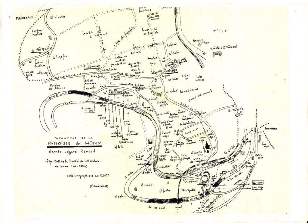 Toponymie de la paroisse de Hony par Edgar Renard - 1926