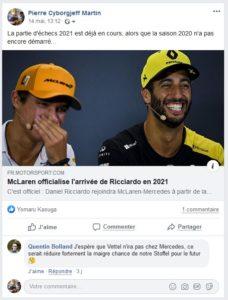 Daniel Ricciardo a le sourire !