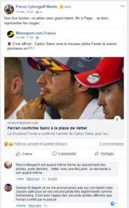 Non d'un boulon, c'est Carlos Sainz qui rejoint les rouges !