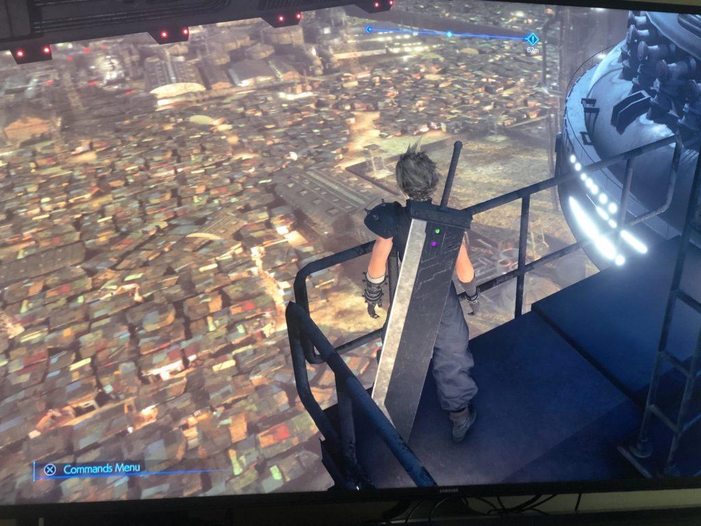 Le bidon ville vu d'en haut, FFVII Remake 2020
