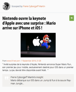 Nintendo ouvre la keynote d'Apple avec une surprise : Mario arrive sur iPhone et iOS !