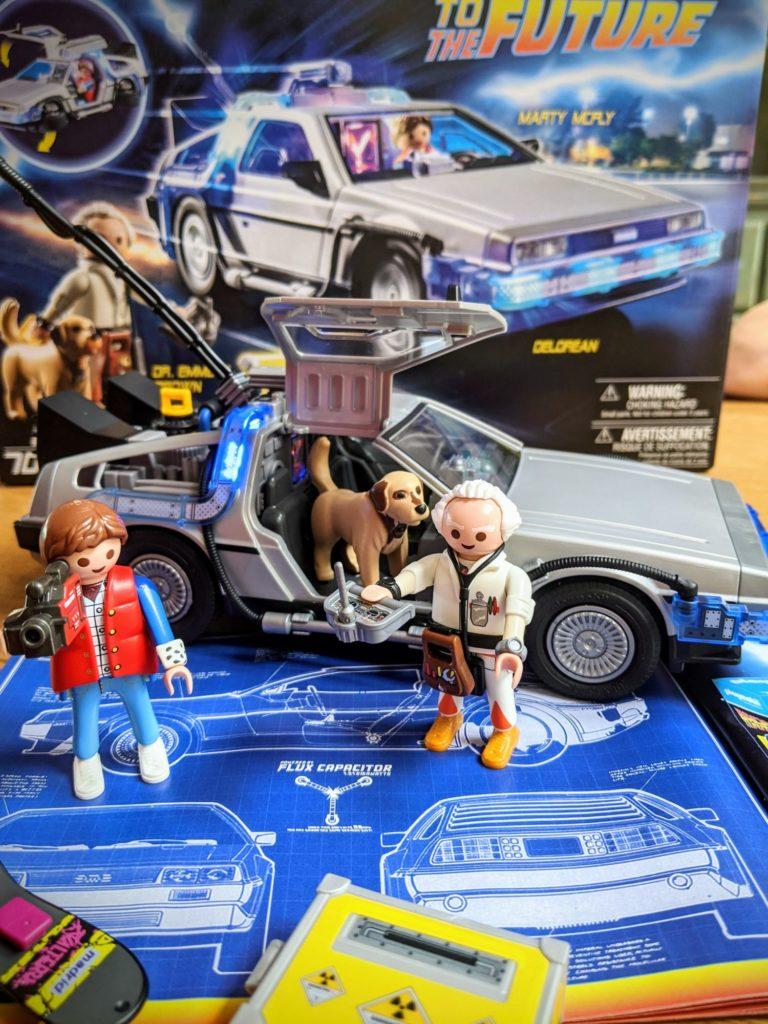 Waouw, magnifique la Dolorean de Playmobil