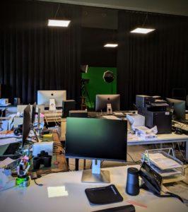 Le studio encore bien vide