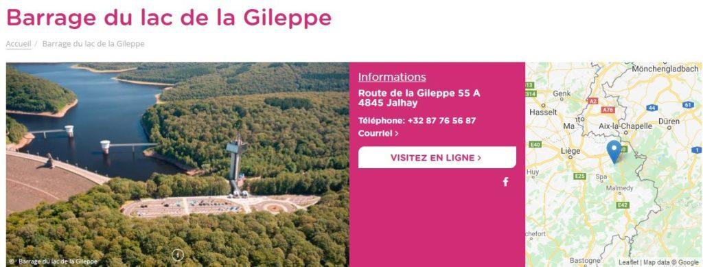 Le barrage de la Gileppe
