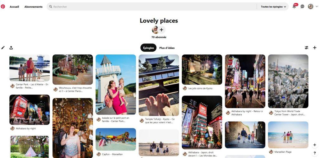 Pinterest se présente plus comme des tableaux à idées au niveau visuelle plutôt qu'aux contenus d'articles.