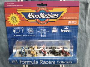 La série Formula Racers Collection de 1988 issu de la collection de Joe Scheppe
