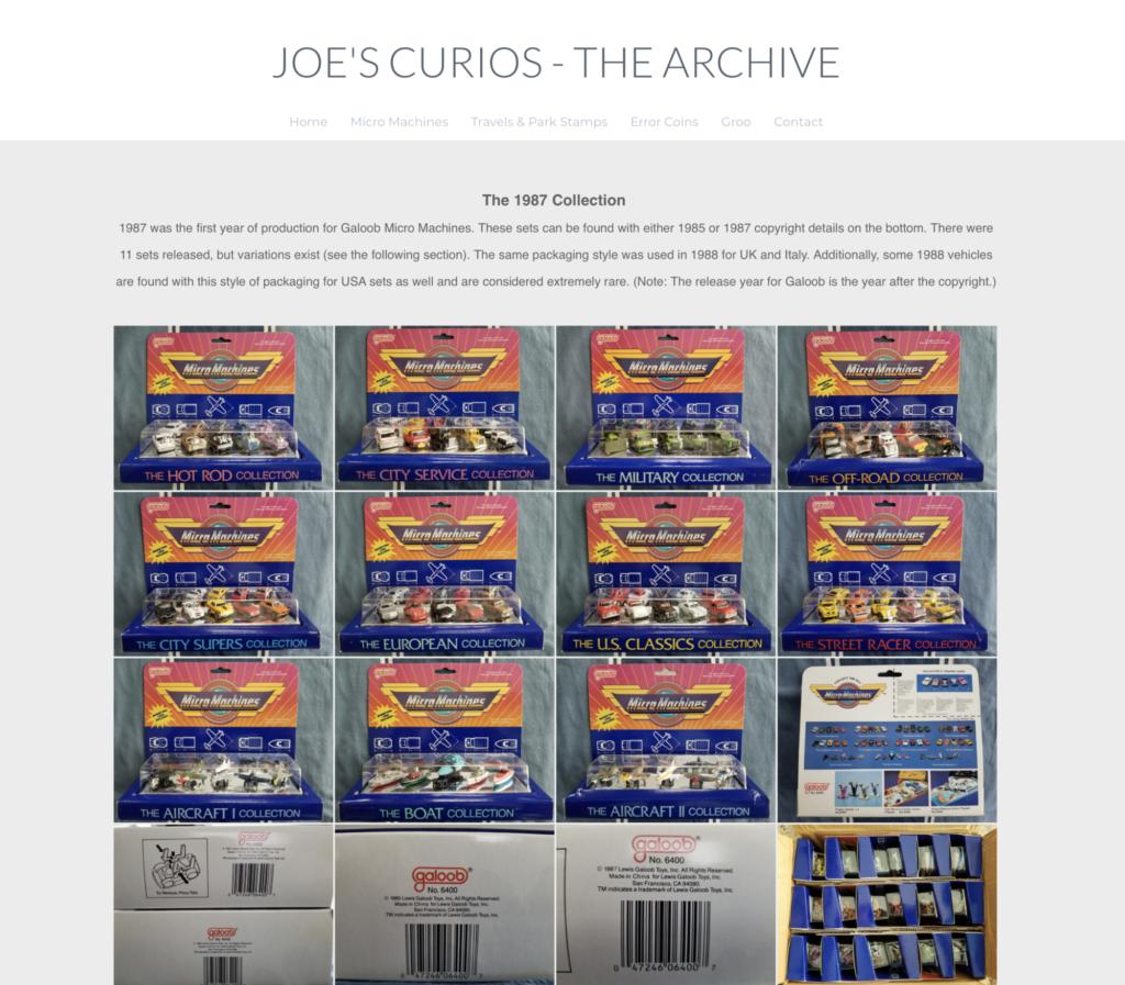 Le nouveau site de Joe Scheppe, une mine d'or pour identifier mes Micro Machines