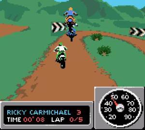 Championship Motocross 2001 Featuring Ricky Carmichael - GBC (THQ - Tiertex Design Studio, 2000)