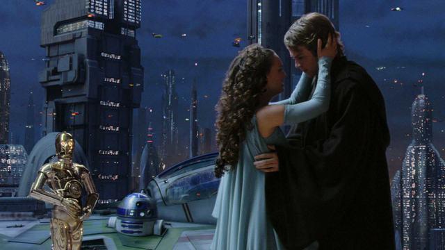 Anakin et Padmé, inquiète dans Star Wars Ep. 3
