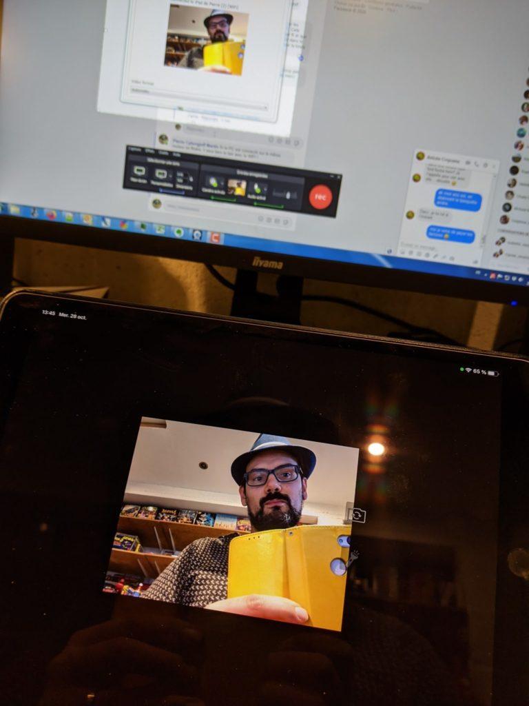 Yes, Camtasia reconnait ma tablette comme périphérique Webcam