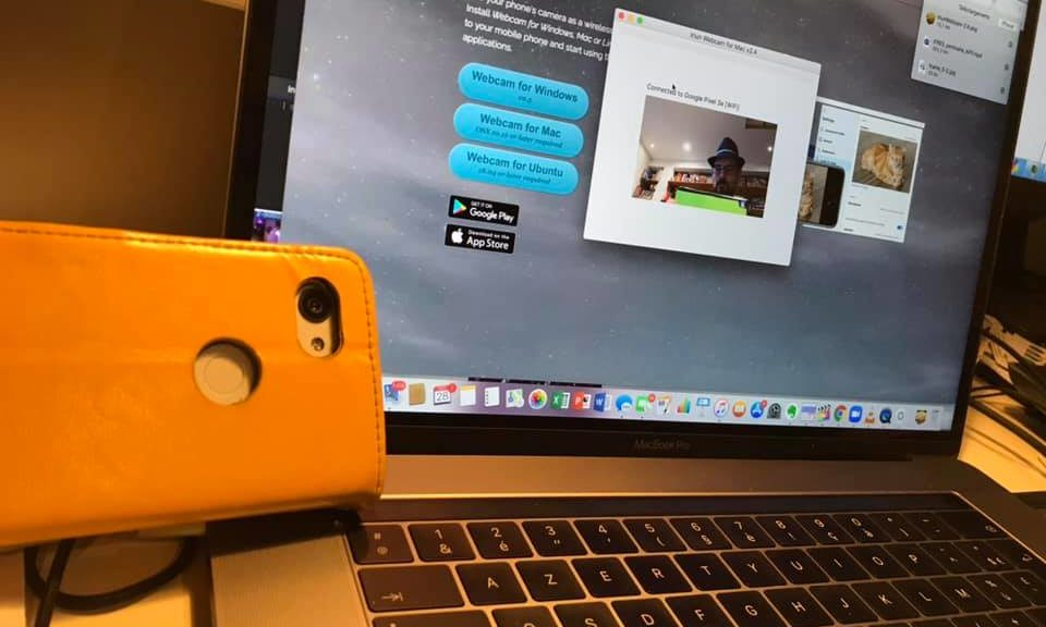 Smartphone Android devenu Webcam sur le Mac