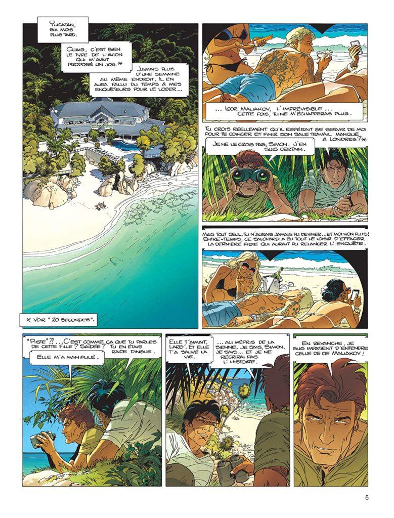 1° page du tome 21 de Largo Winch